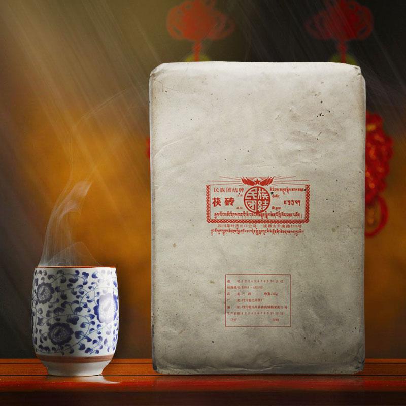 世贸通 九十年代四川开武红印茯砖茶 3kg 0168