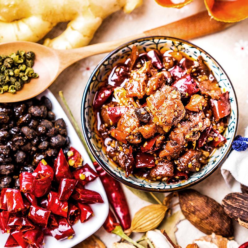 盐炙味 自贡冷吃兔豉香味200g 成都四川特产 熟食小吃 兔肉类零食 兔肉 兔丁