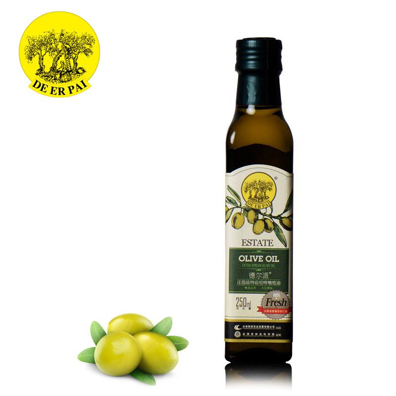 云南绿原 液体黄金德尔派庄园级特级初榨橄榄油250ml