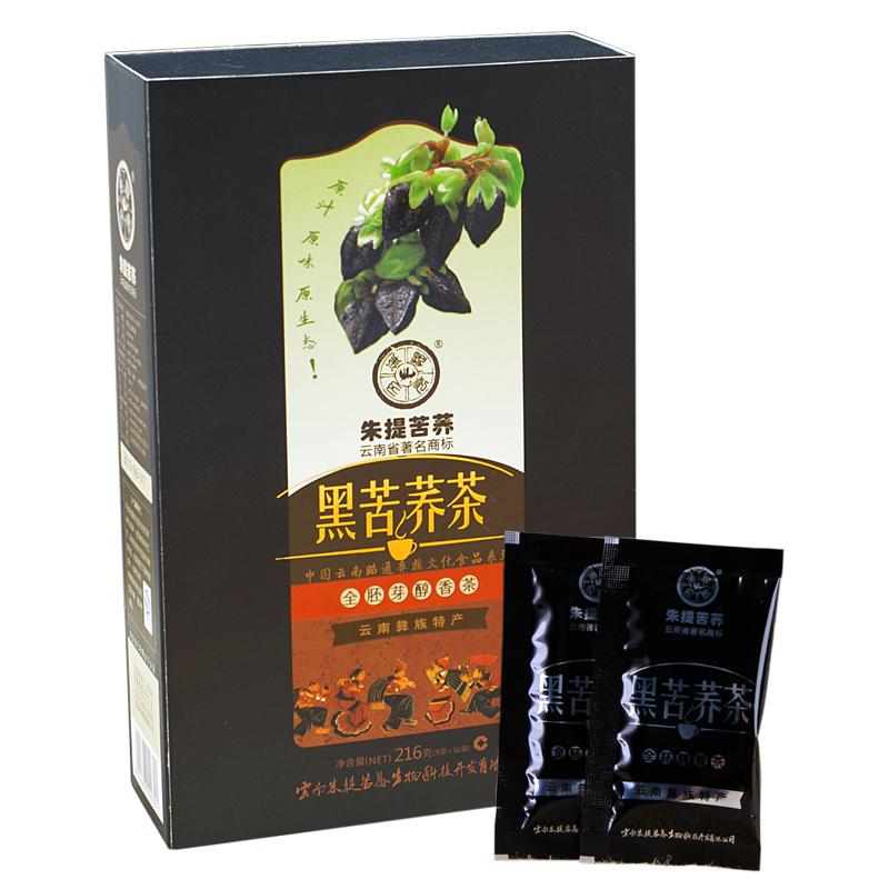 朱提 黑苦荞茶216克 独立小袋装 全胚颗粒 黑苦荞麦茶 高原特产